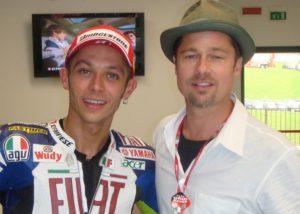 Bikers Celebrity Rossi Pitt